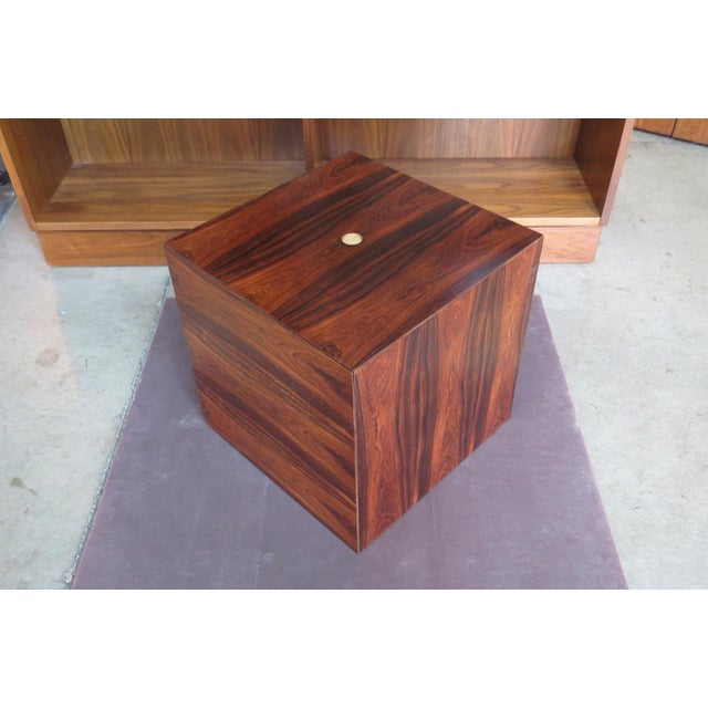 Boho Chic 1960s Mid Century Modern Rare Rosewood Nesting Table Set For Sale - Image 3 of 11