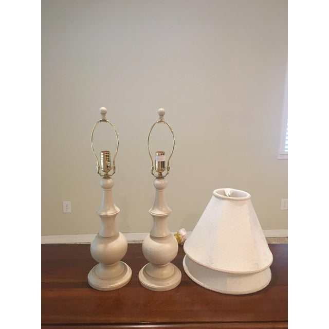 Ethan Allen Shabby Chic Table Lamps - A Pair - Image 2 of 4