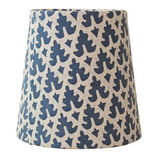 Fortuny Blue and White Chandelier Shade For Sale