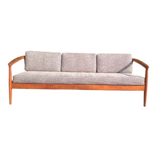 Folke Ohlsson Dux Teak Three Seater Sofa For Sale