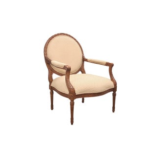 1980s Vintage Henredon French Provencial Bergere Chair For Sale