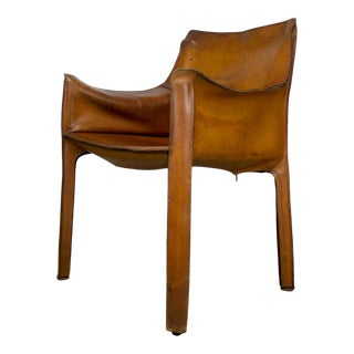 1970s Italian Cassina Cab Leather Armchair by Mario Bellini For Sale