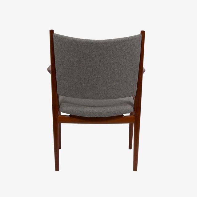 Pair of Hans Wegner Teak Armchairs For Sale In New York - Image 6 of 7