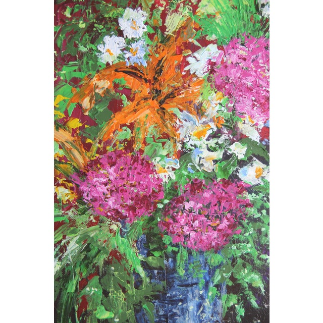 Blue Vase-Floral Painting by Celeste Plowden - Image 2 of 3