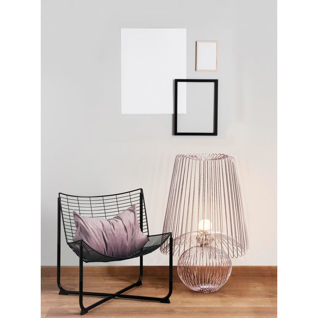 Contemporary Oversized Metal Floor Lamp Koy in Rose Gold For Sale - Image 3 of 6