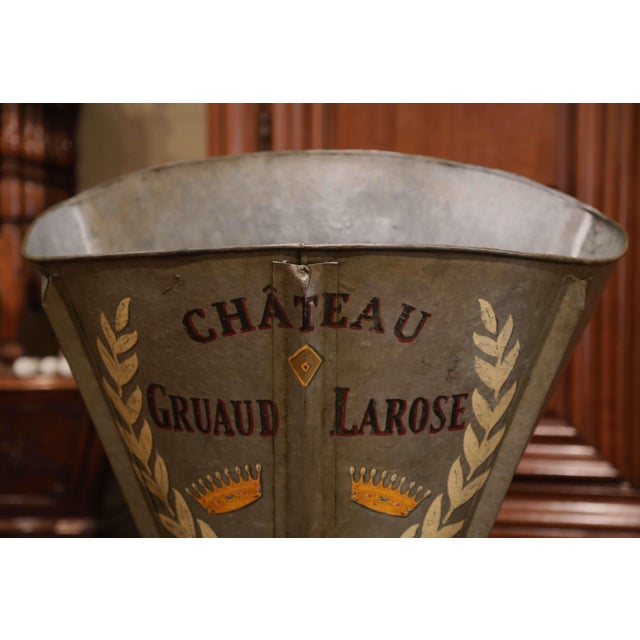 Yellow 19th Century French Hand Painted Tole Grape Basket From Bordeaux For Sale - Image 8 of 9