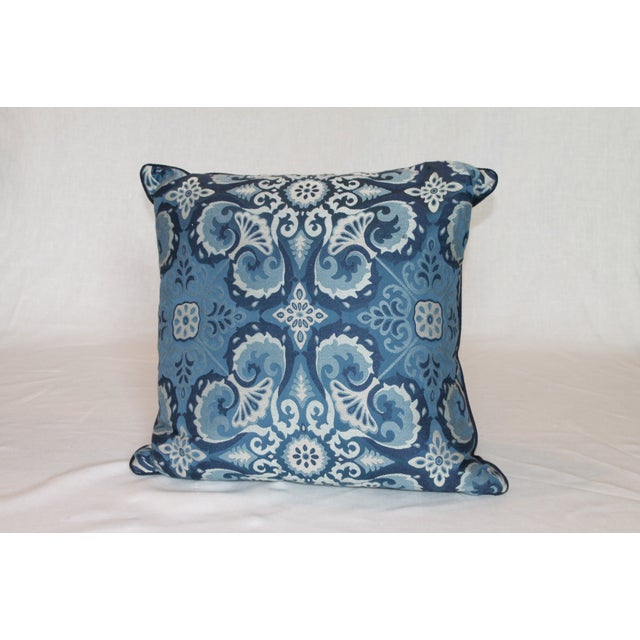 Ryan Studio Blue Paisley Pillow - Image 2 of 3