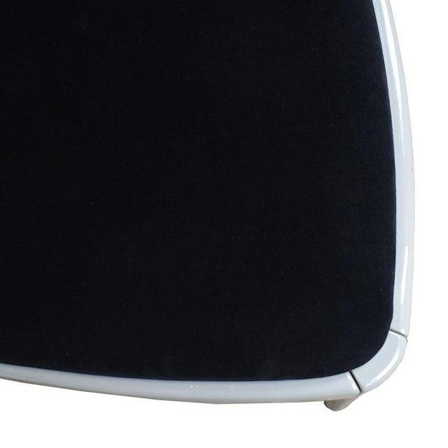 Late 20th Century Black Italian Upholstered Velvet Art Deco Dining Chair - Late 20th Century For Sale - Image 5 of 7