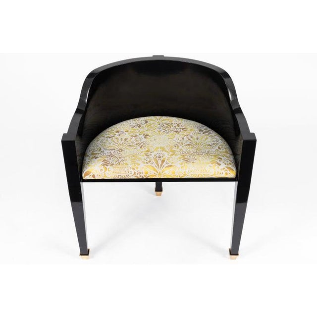 Black Vintage Mid Century Hollywood Regency Style Chairs- A Pair For Sale - Image 8 of 12