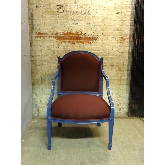 Frederick P. Victoria & Son, Inc. Ribbon Armchair For Sale - Image 4 of 5