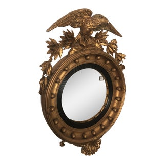 19th Century Wood Convex Mirror For Sale