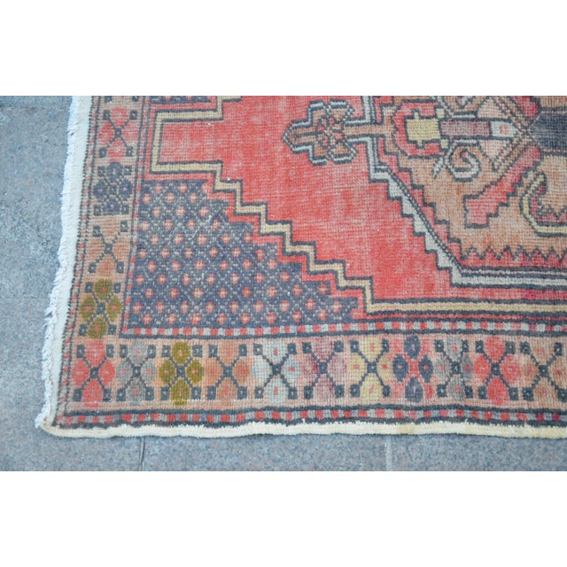 Anatolian Tribal Handwoven Rug - 3′5″ × 6′2″ - Image 6 of 6