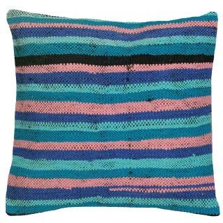 """Nalbandian - Turkish Rag Rug Pillow - 16"""" X 16"""" For Sale"""