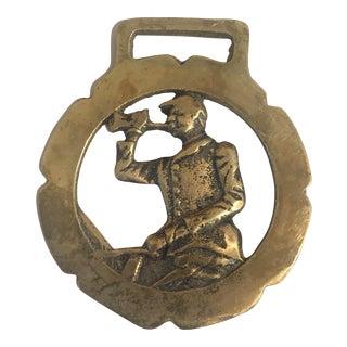 Vintage Brass Equestrian Harness Ornament