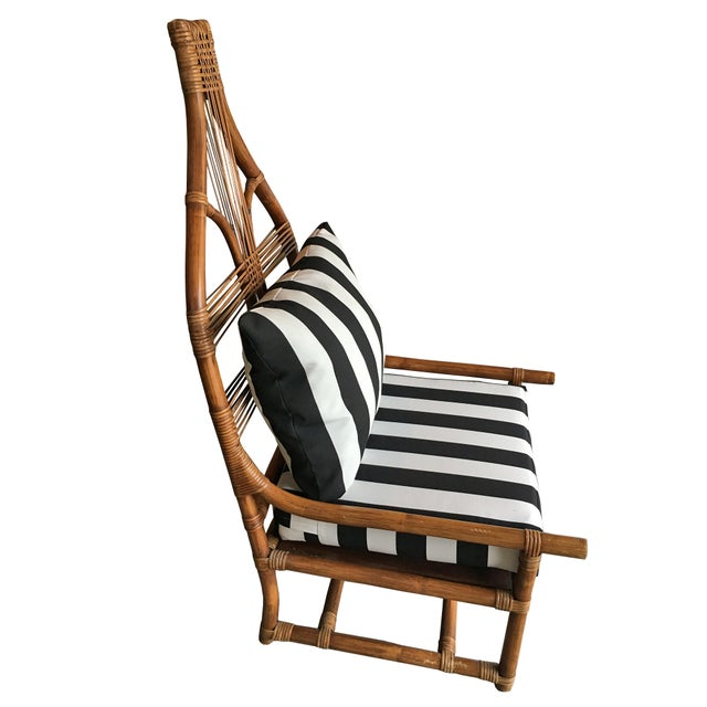 High Back Rattan Throne Chairs - A Pair - Image 3 of 6