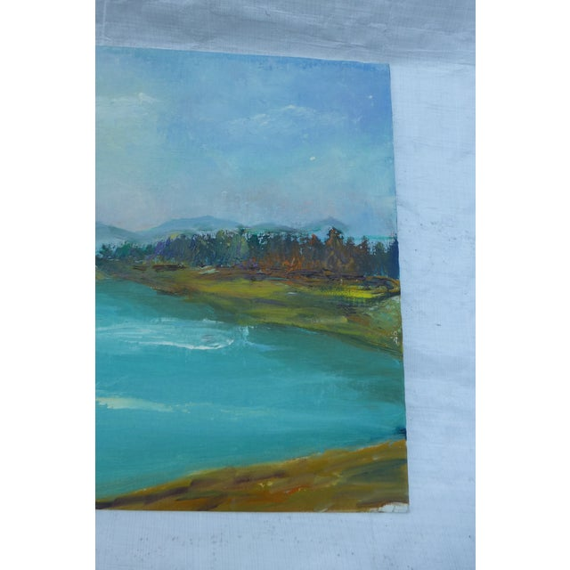 H.L. Musgrave Mid-Century Mountain Scene Painting - Image 5 of 6