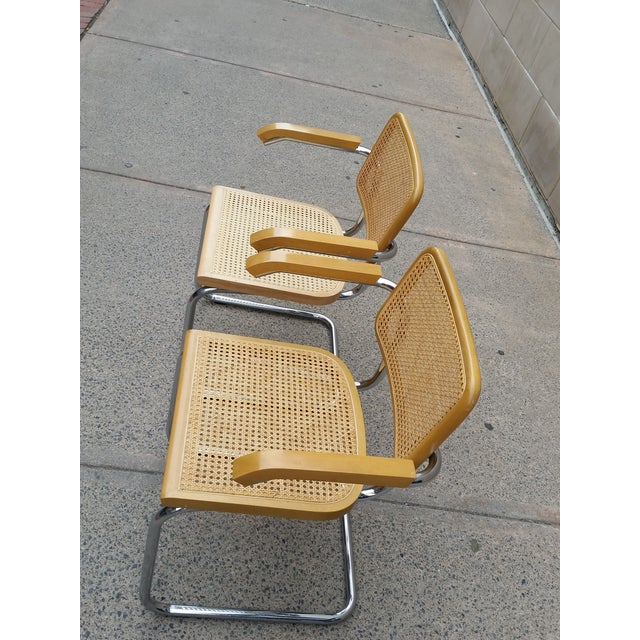 Marcel Breuer Italian Chairs - A Pair - Image 3 of 9