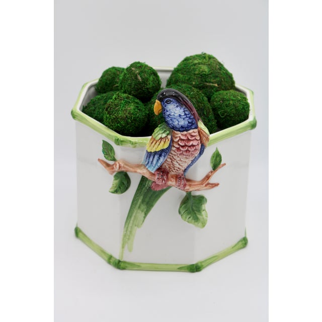 1960s Large Italian Ceramic Parrot Planter For Sale - Image 11 of 13