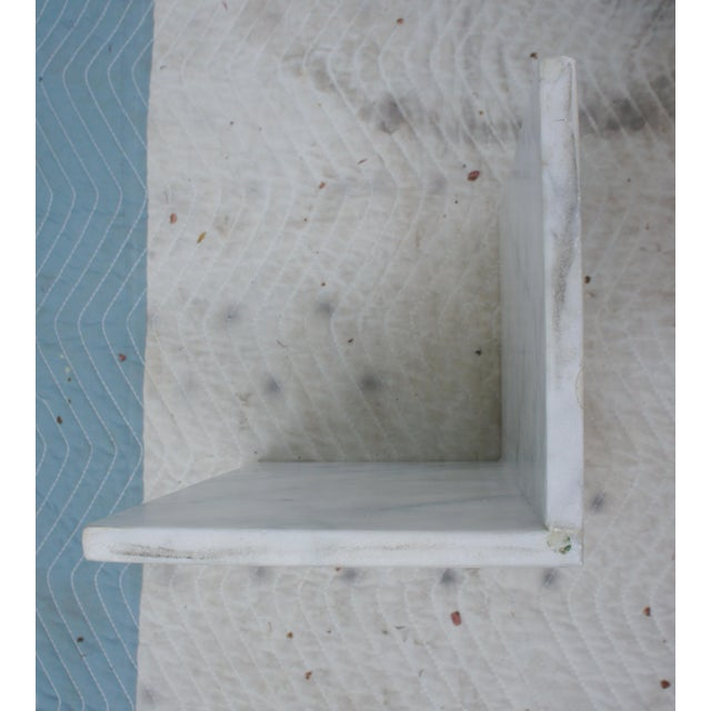 Stone Mid-Century Modern Italian Carrara Marble Square End Table For Sale - Image 7 of 11