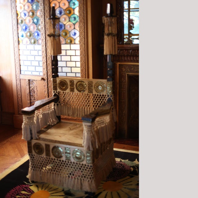 Pair of Carlo Bugatti Throne Arm Chairs For Sale - Image 11 of 11