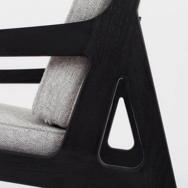 Wood Asa Pingree Pilar Lounge Chair in Fog Gray Ash For Sale - Image 7 of 11
