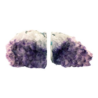 Large Amethyst Natural Bookends - A Pair For Sale