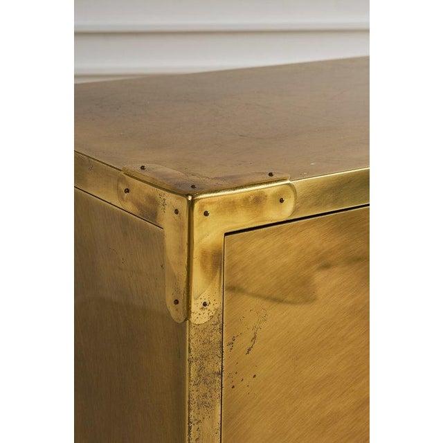 Mid-Century Modern Brass Clad Three Drawer Dresser by Mastercraft For Sale - Image 3 of 7