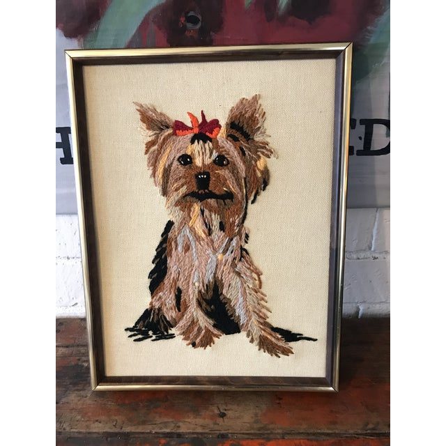 Handmade Framed Yorkie Dog - Image 10 of 10