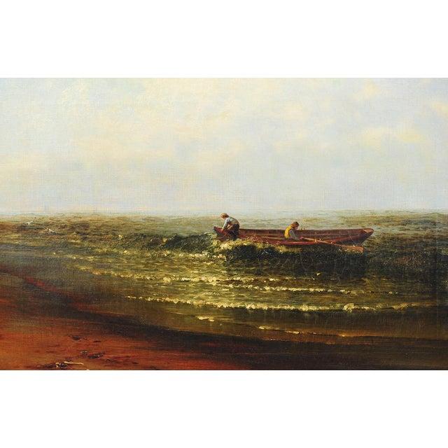"""Harry J. Sunter 1880 """"Fishermen Offshore"""" Painting - Image 2 of 9"""