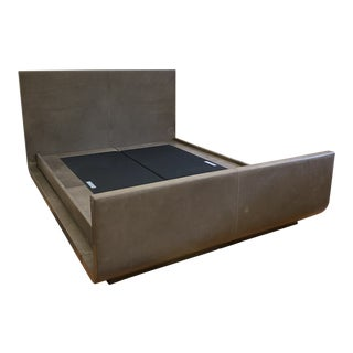 Queen Size Joseph Jeup Pile Leather Bed Frame For Sale