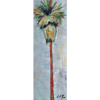 "Kathleen Keifer ""Silver Gray Palm"" Original Painting For Sale"