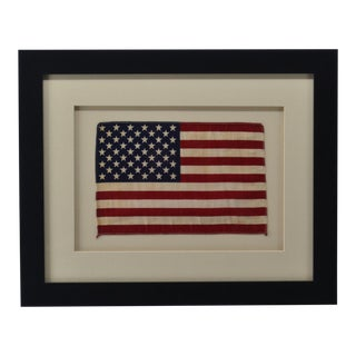 1959 Era 50 Star American Flag with Museum Framing and UV Acrylic For Sale