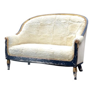 French Victorian Fur Settee For Sale