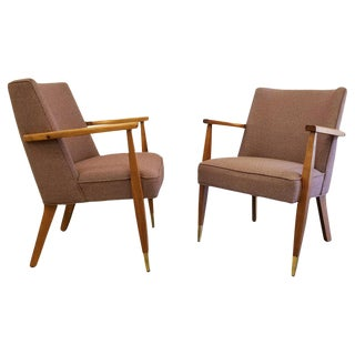 Pair Mid-Century Modern Side Chairs For Sale