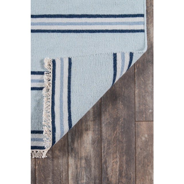 "Contemporary Erin Gates Thompson Union Light Blue Hand Woven Wool Area Rug 7'6"" X 9'6"" For Sale - Image 3 of 4"