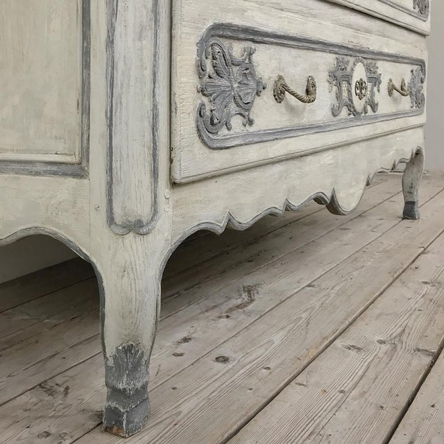 19th Century Country French Regence Painted Commode For Sale - Image 9 of 13