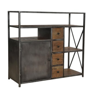 Iron & Reclaimed Wood Cabinet