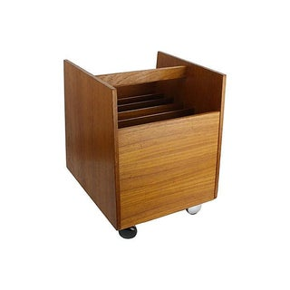 Bruksbo Mid-Century Danish Teak Magazine Rack For Sale