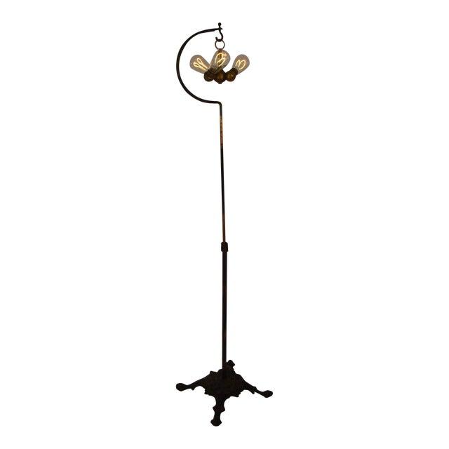 Antique Victorian Cast Iron Adjustable Floor Lamp - Image 1 of 11