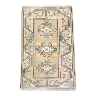 Aztec Traditional Turkish Anatolian Floor Rug - 2′7″ × 4′1″ For Sale