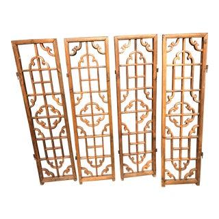 1940s Antique Wooden Fret Work Panels For Sale