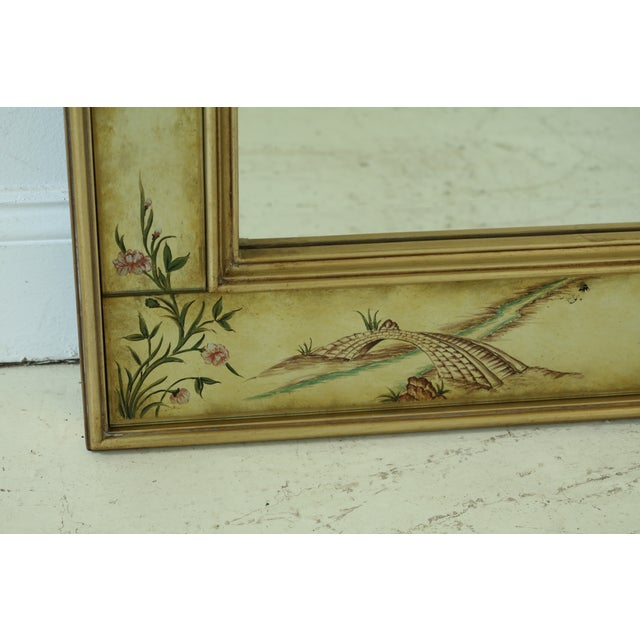 Labarge Labarge 8192-28 Eglomise Chinoiserie Mirror For Sale - Image 4 of 9