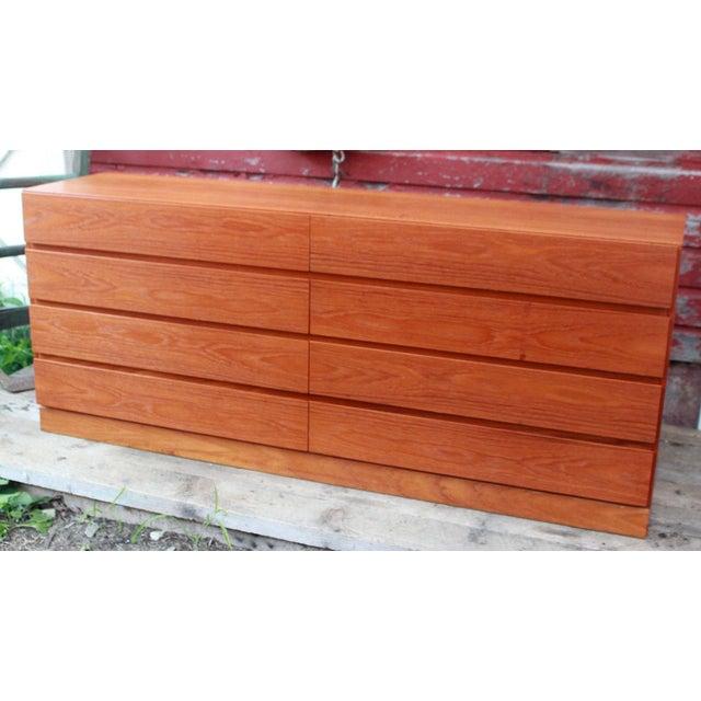 Danish Modern Teak Long Dresser by Arne Iversen for Vinde Mobelfabrik - Image 2 of 11
