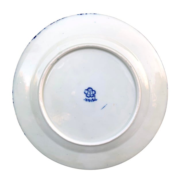 Early 20th Century Japanese Blue and White Plate For Sale In Chicago - Image 6 of 8
