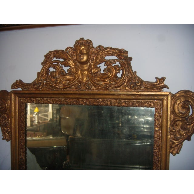 Antique Italian Gilt Cherub Mirror - Image 5 of 12