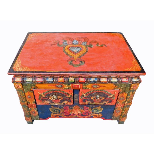 Chinese Tibetan Treasure Motif Small Cabinet - Image 3 of 6