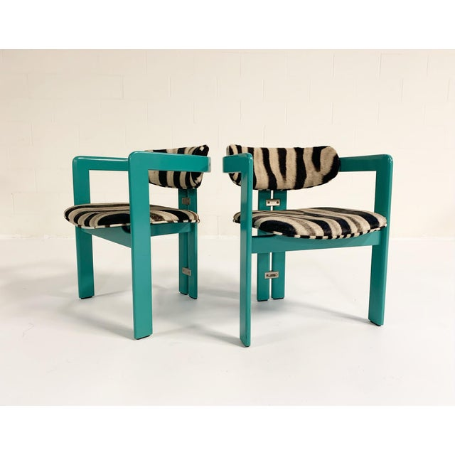Wood Augusto Savini for Pozzi 'Pamplona' Dining Chairs in Zebra - Set of 8 For Sale - Image 7 of 10