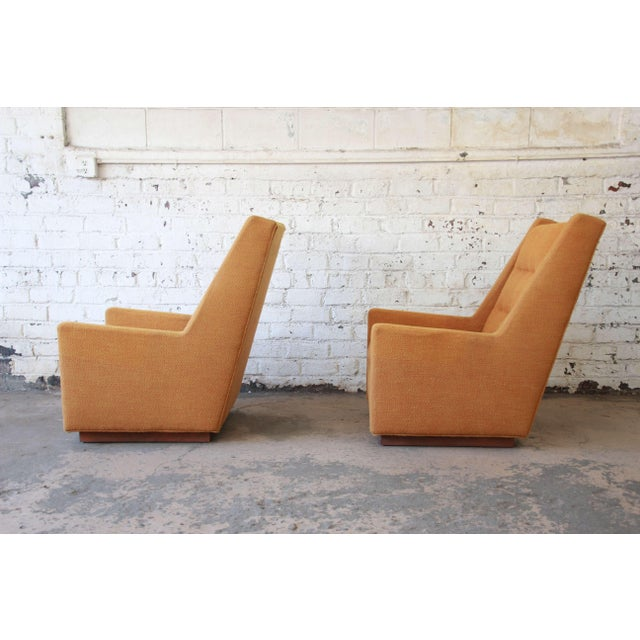 Lounge Chairs and Ottoman by Milo Baughman for James, Inc 'Articulate Seating' - a Pair For Sale - Image 10 of 11