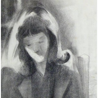 Charcoal Portrait - the Serene Reader Preview