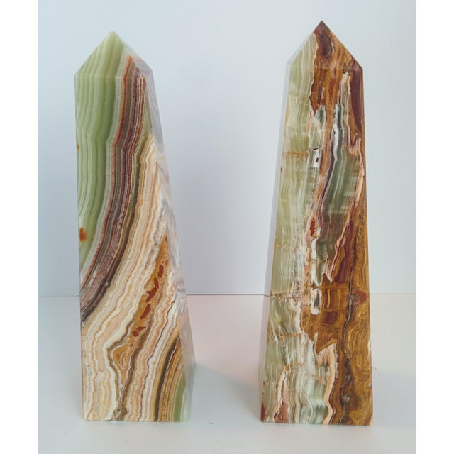 Modern Onyx Obelisks - A Pair - Image 3 of 10